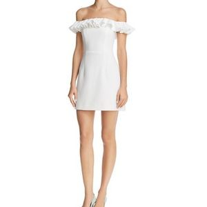 French Connection off shoulder white dress